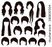 styles hair silhouettes  woman... | Shutterstock .eps vector #180830504