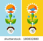 flat design nature concept  ...