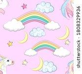 cartoon seamless pattern.... | Shutterstock . vector #1808329936