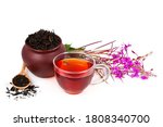 Cup Of Herbal Tea  Clay Pot...