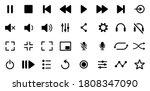 media player icons set.... | Shutterstock .eps vector #1808347090