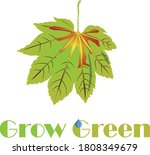 fresh abstract leaf with eco... | Shutterstock .eps vector #1808349679