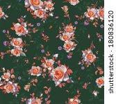 elegance beautiful rose bouquet ... | Shutterstock .eps vector #180836120