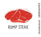 Raw Rump Steak Isolated ...