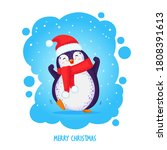 christmas hand drawn cute... | Shutterstock .eps vector #1808391613