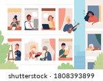 various neighbors living in... | Shutterstock .eps vector #1808393899
