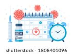time to vaccinate concept.... | Shutterstock .eps vector #1808401096
