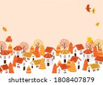 autumn landscape with animals... | Shutterstock .eps vector #1808407879