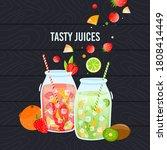 juice healthy food vector... | Shutterstock .eps vector #1808414449