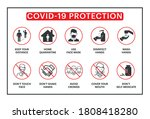 covid 19 protection  icons set... | Shutterstock .eps vector #1808418280