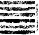 Black and white sponge print striped grunge seamless pattern, vector - stock vector