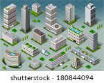isometric building city palace... | Shutterstock .eps vector #180844094