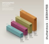colorful bar chart vector...