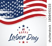 labor day greeting card with...   Shutterstock .eps vector #1808450233