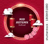mid autumn festival banner with ... | Shutterstock .eps vector #1808451880