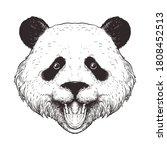 panda line art illustration...   Shutterstock .eps vector #1808452513