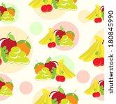 fruits seamless | Shutterstock .eps vector #180845990