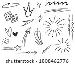 hand drawn arrows icons set....   Shutterstock .eps vector #1808462776