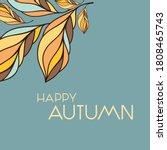 decorative autumn leaves... | Shutterstock .eps vector #1808465743