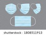 blue face mask isolated on dark ... | Shutterstock .eps vector #1808511913