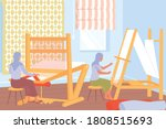 carpet production process with... | Shutterstock .eps vector #1808515693