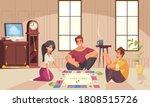 board games money composition... | Shutterstock .eps vector #1808515726