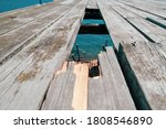 Old Wooden Bridge Made Of...