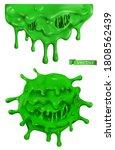 green slime. 3d cartoon vector... | Shutterstock .eps vector #1808562439