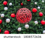 A Red Wicker Ball Entwined With ...