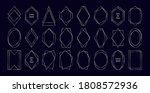 silver polygonal frames... | Shutterstock .eps vector #1808572936