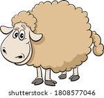 cartoon illustration of sheep... | Shutterstock .eps vector #1808577046