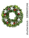 Christmas Wreath With Silver...