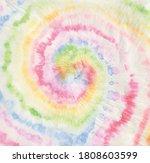pastel tie dye swirl. vector... | Shutterstock .eps vector #1808603599