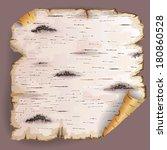twisted piece of birch bark. | Shutterstock .eps vector #180860528