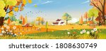 vector autumn panorama... | Shutterstock .eps vector #1808630749