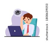 office man feel stressed and... | Shutterstock .eps vector #1808639053
