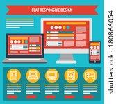 flat responsive design. vector.