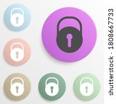 closed lock badge color set....