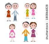 family members illustration... | Shutterstock . vector #180866828