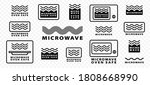 Microwaves Flat Linear Icons...