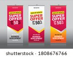 roll up banner stand template...   Shutterstock .eps vector #1808676766