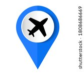 airport location icon.  vector... | Shutterstock .eps vector #1808686669