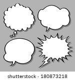 comical bubble speech   Shutterstock . vector #180873218