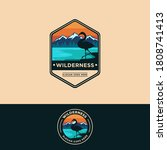 badge emblem patch wilderness... | Shutterstock .eps vector #1808741413