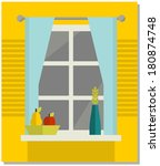 home  sweet home. vector...   Shutterstock .eps vector #180874748