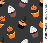 halloween pumpkin   witch hat... | Shutterstock .eps vector #1808772430