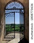 Stylish Old Wrought Iron Gate...