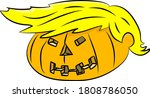 cartoon winter squash with a... | Shutterstock .eps vector #1808786050