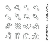 key related icons  thin vector... | Shutterstock .eps vector #1808790919