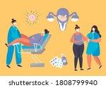 gynecologist doing medical... | Shutterstock .eps vector #1808799940